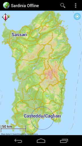Offline Map Sardinia Italy