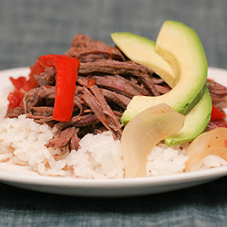 Cuban Braised Beef and Peppers.