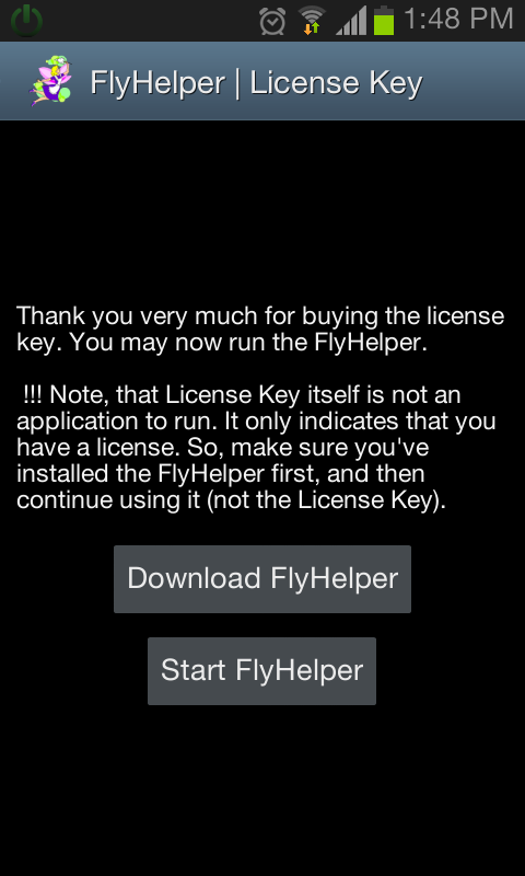 FlyHelper | License Key - screenshot