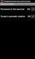 Screenshot of rotate from notice