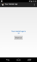 Screenshot of Your Mental Age