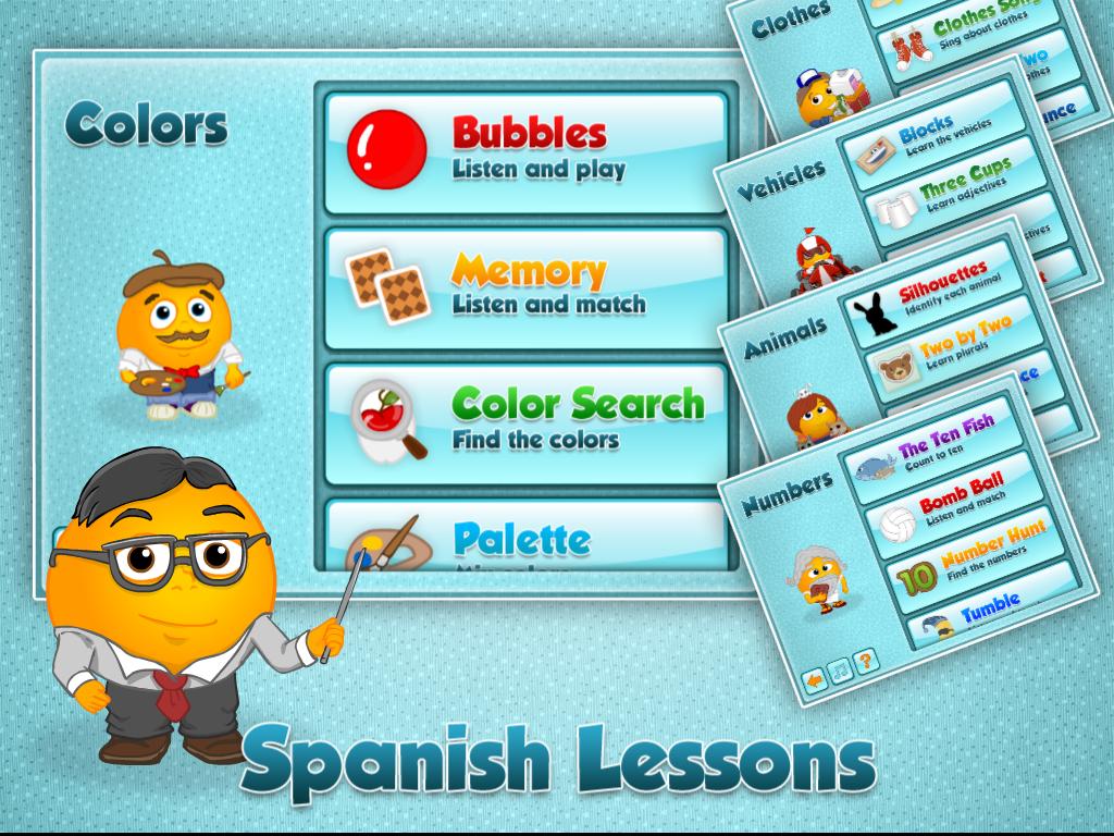 learning spanish fun games