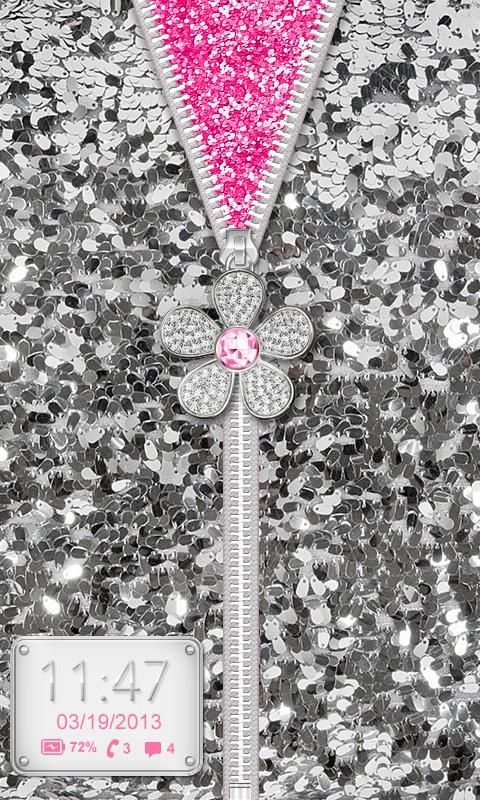 ♥ Flower Zipper Lock Screen ♥- screenshot