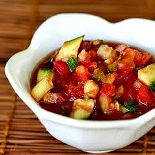 Cold Tomato Summer Vegetable Soup.