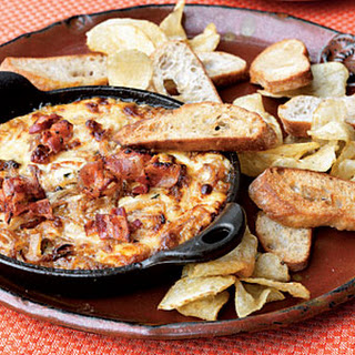 Hot Caramelized Onion Dip with Bacon and Gruyère.