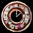 かわいいドーナツ型目覚まし時計ウィジェット icon