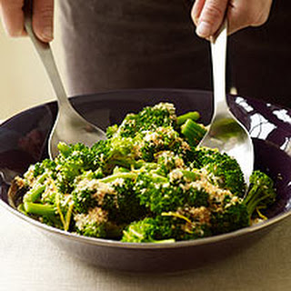 Broccoli with Lemon-Garlic Crumbs.