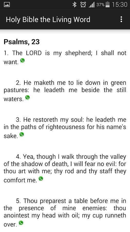 The Holy Bible the Living Word - screenshot