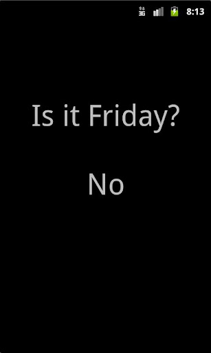 玩生產應用App Is It Friday?免費 APP試玩