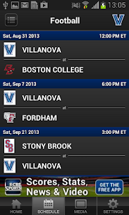 Villanova Athletics - screenshot thumbnail