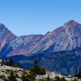 Sisters by Brian Stout - Landscapes Mountains & Hills ( sisters, mountain, shuksan, cascades, mt baker )