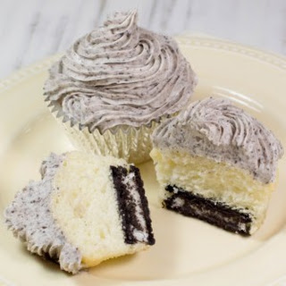 Cake Mix Cookies and Cream Cupcakes.
