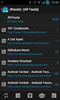 Screenshot of JReader (Google Reader | RSS)