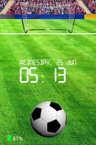 足球屏幕鎖定