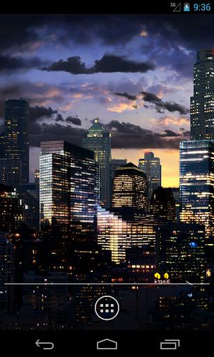 City Skyline Live Wallpaper HD