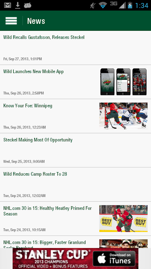 MN Wild Official - screenshot