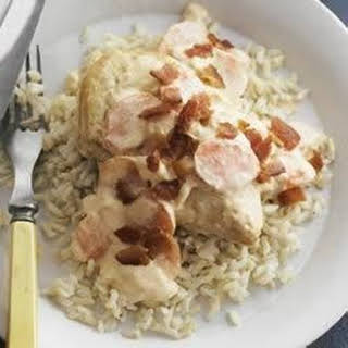 PHILLY Smothered Chicken with Brown Rice.