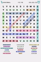 Screenshot of Word Search: French