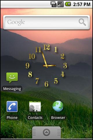 Gold Clock Widget - screenshot