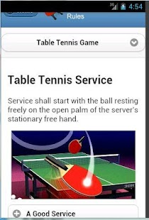 Table tennis rules android apps on google play for Table tennis serving rules