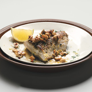 Striped Bass with Browned Hazelnut Butter, Lemon, and Parsley