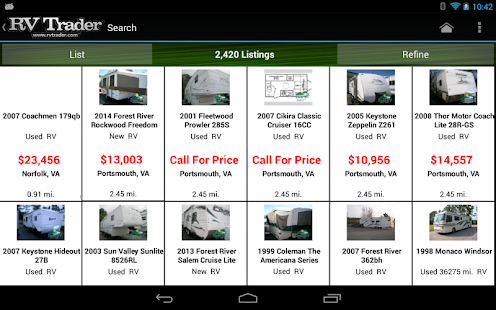 RV Trader - screenshot thumbnail