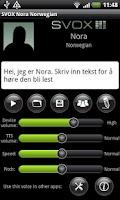 Screenshot of SVOX Norwegian Nora Voice