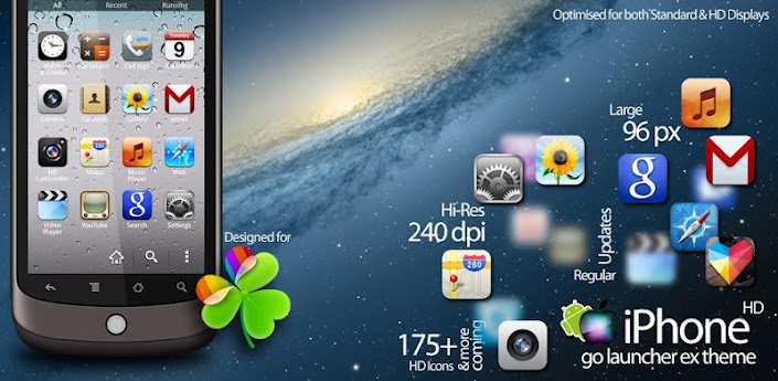 iPhone HD Go Launcher EX Theme apk