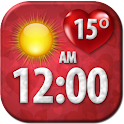 Love Clock Weather Widget icon