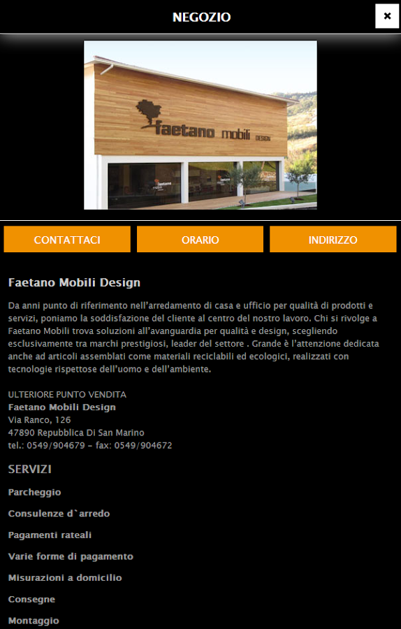 Faetano mobili design android apps on google play for Mobili di design san francisco