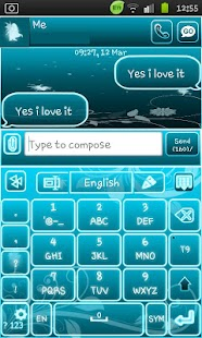 Go Keyboard Fairy Blue - screenshot thumbnail