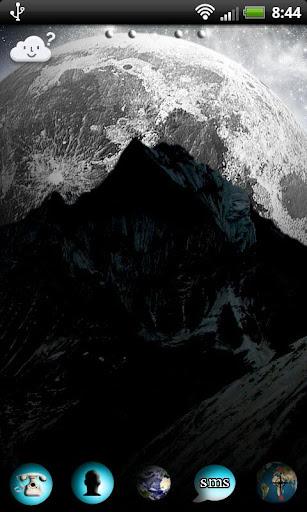 GO Launcher 宇宙中的月亮 2