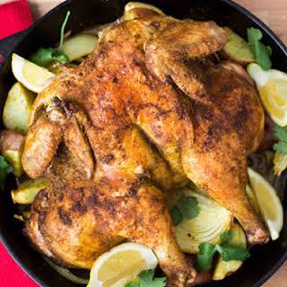 Indian Cast Iron Roast Chicken.