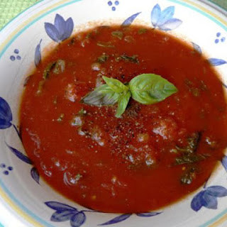 Low Fat Tomato Spinach Soup