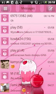 GO SMS Pro Milk Shake Theme - screenshot thumbnail