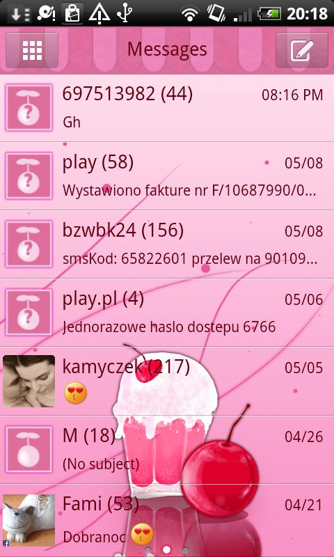 GO SMS Pro Milk Shake Theme- screenshot
