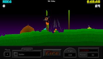 Screenshot of Pocket Tanks