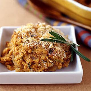 Pumpkin Gratin with Crispy Rosemary-Parmesan Topping