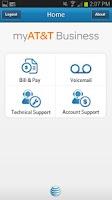 Screenshot of myAT&T Business