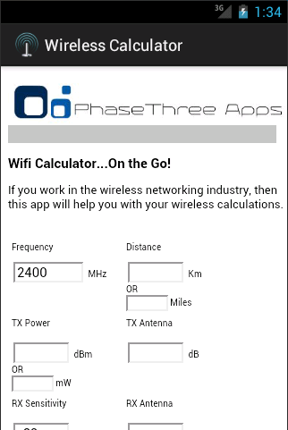 Wireless Calculator
