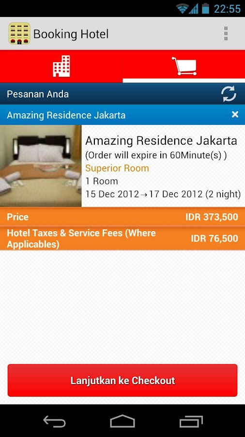 Booking Hotel - screenshot