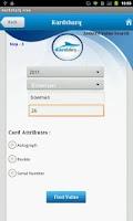 Screenshot of Trading Card Value - Free