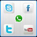 تطبيق مجانى للاندرويد لوضع ازرار المواقع الاجتماعية على شاشة جهازك Social Touch FREE.apk1.1