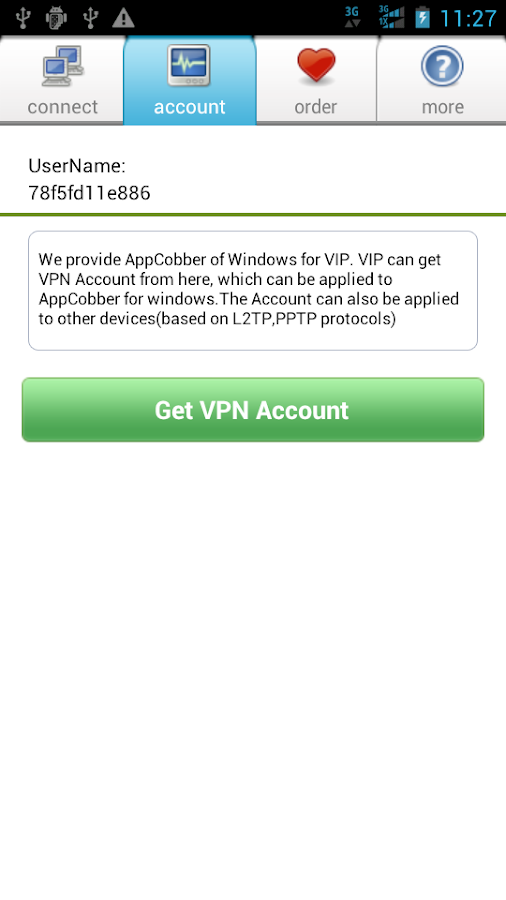 "AppCobber - ""one-tap"" vpn - screenshot"