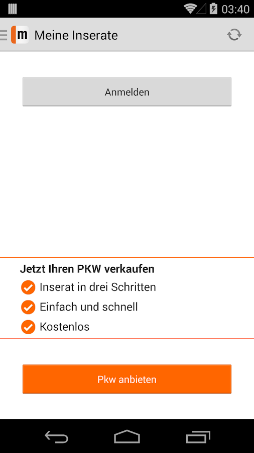 mobile.de - mobile Auto Börse - screenshot