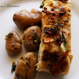 Baked Cod with Baked Potatoes