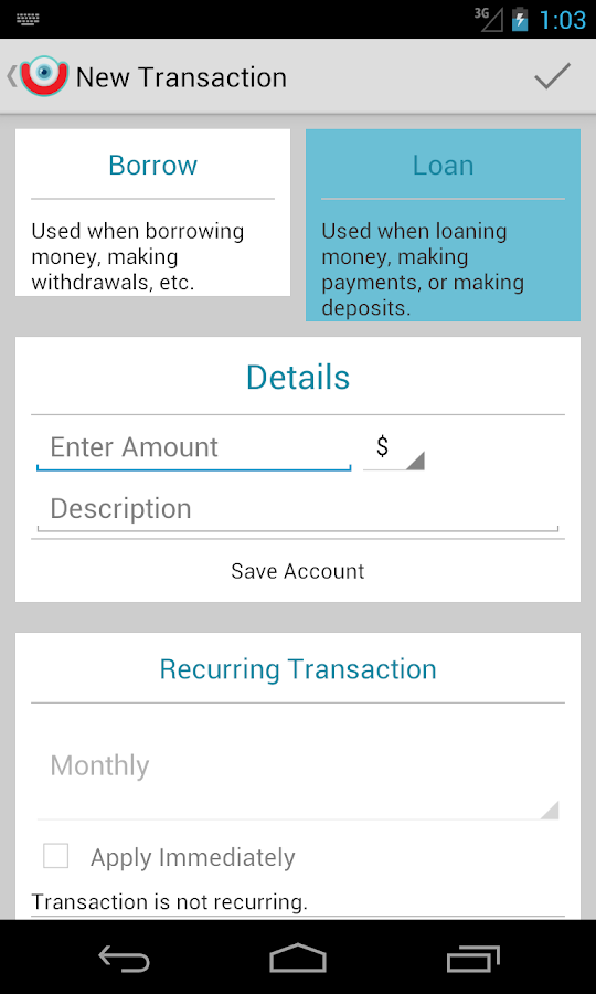 iOu (I owe you)Debt Calculator - screenshot