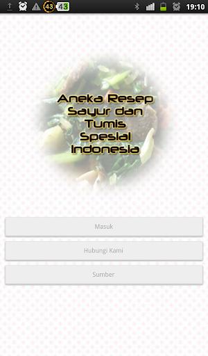 Aneka Resep Sayur dan Tumis