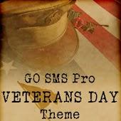 GO SMS Pro Veterans Day theme