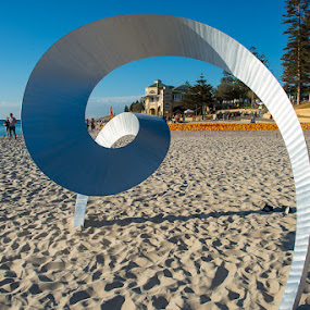 Sculptures by the Beach, Cottesloe, Perth, Western Australia by Photoxor AU - Artistic Objects Other Objects ( perth, cottesloe, indian teahouse, art, ocean, beach, western australia, sculptures by the beach,  )